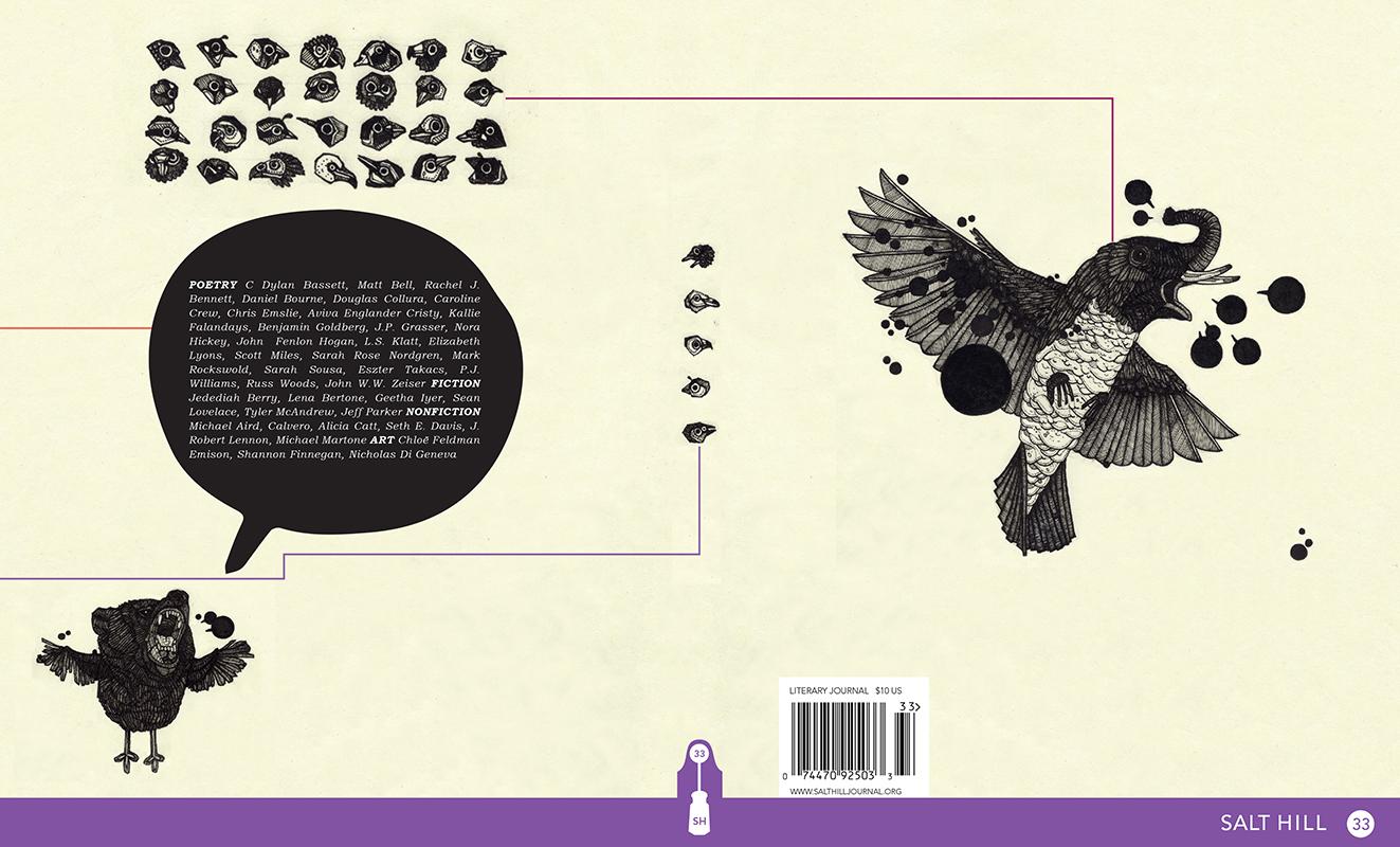 Salt Hill  33, Cover Design