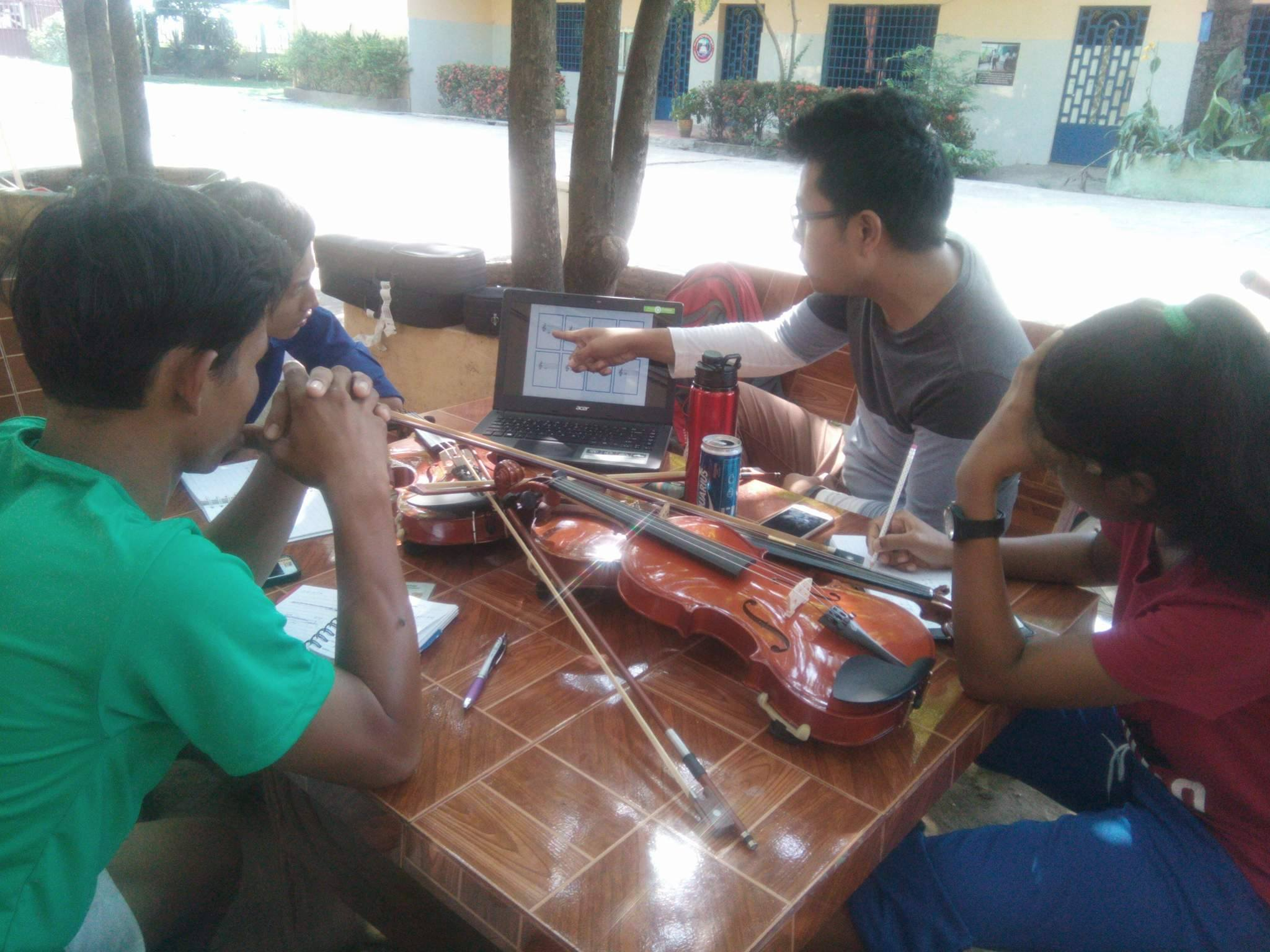 Music Education at Bileg in Cambodia