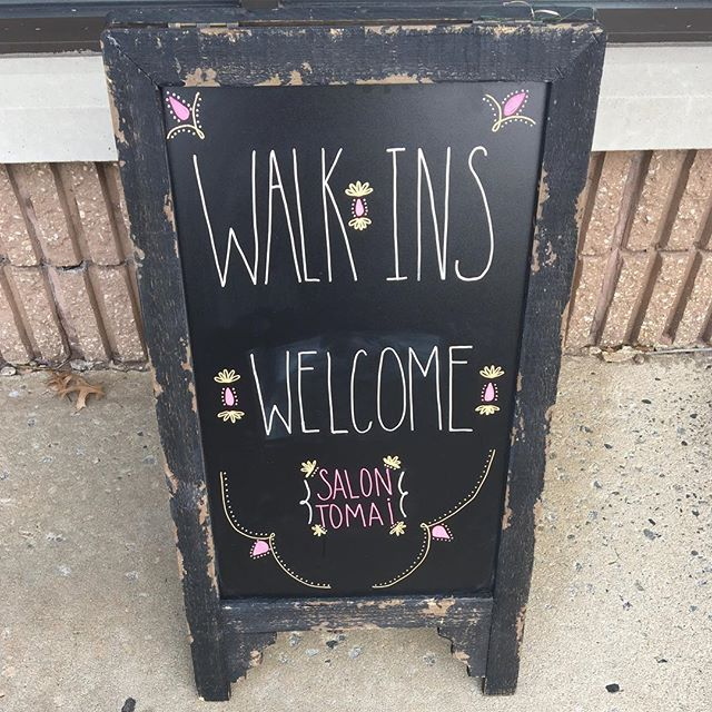 Walk-ins are welcome as well as same day appointments. 😁