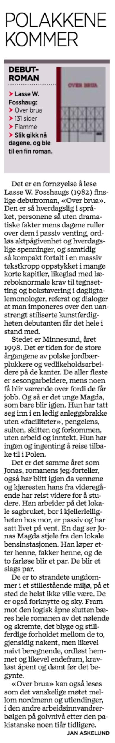 Faksimile Stavanger Aftenblad 23. juli 2013