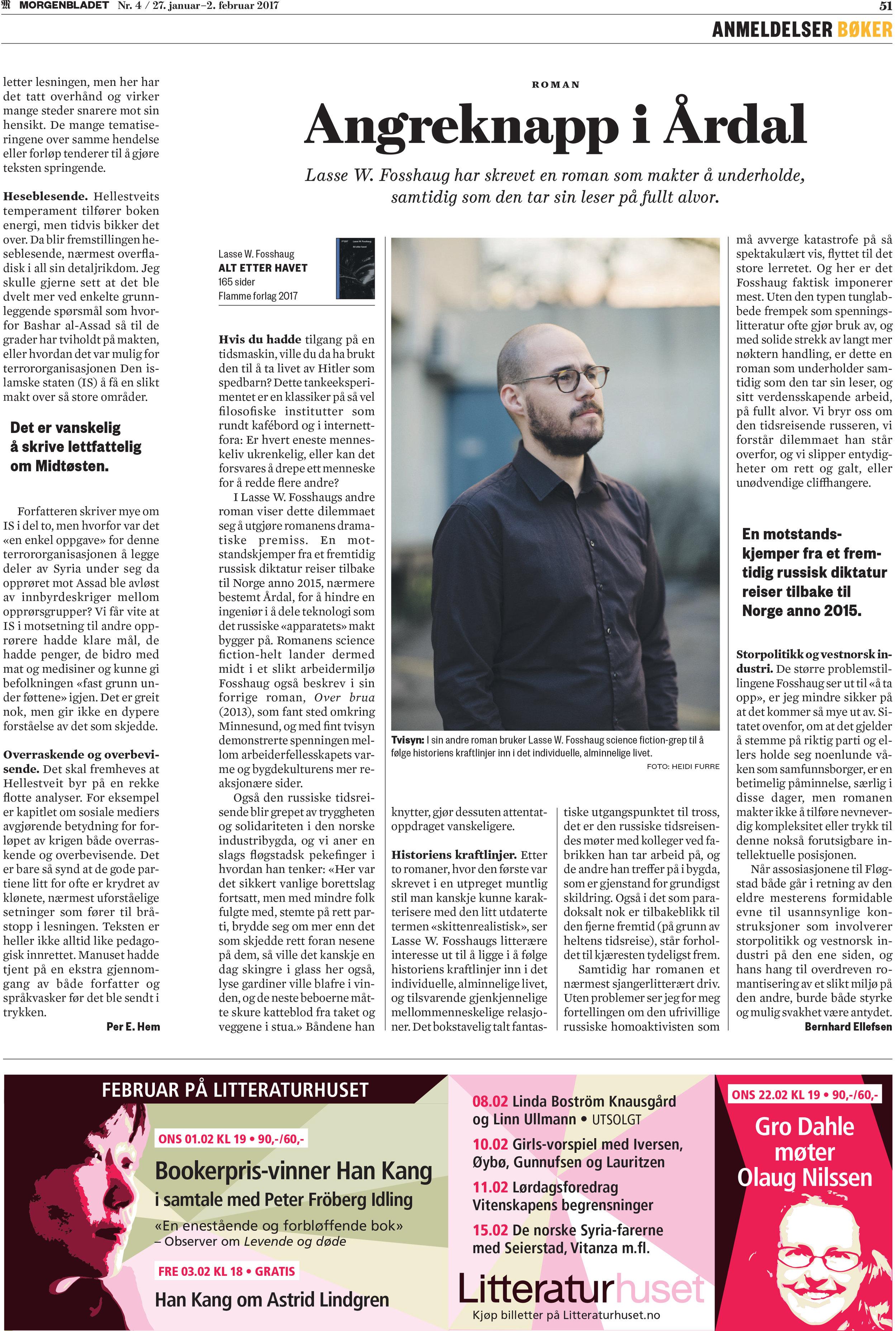 Faksimile fra Morgenbladet 27. januar 2017.
