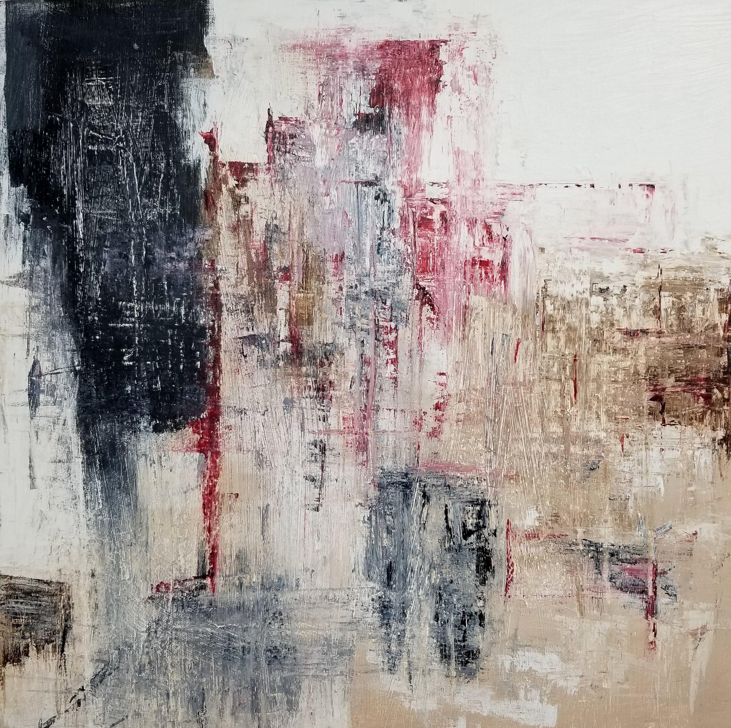 Dystopia - 20 x 20 x 1.5, acrylic, 2018  (c) Linda Wimberly