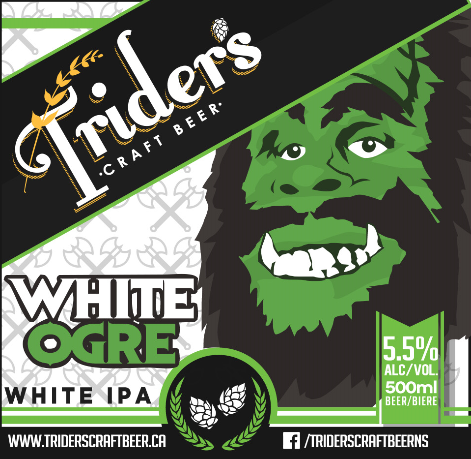 White Ogre - If you've ever been to Cumberland County then you've probably heard whispers of a Sasquatch like beast roaming the forests of Athol. We brewed this recipe up while hiking through the area as we came across grapefruit peels and coriander seeds in a clearing - surely that of the White Ogre's lunch! Enjoy with spicy tacos, hot sausages, or wandering explorers.