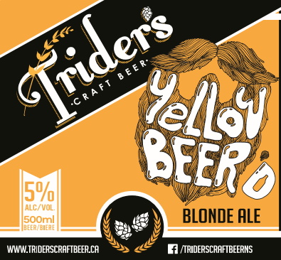 Yellow Beer'd - Trider's Craft Beer is proud to share with you our Yellow Beer'd Ale. An exceptionally easy drinking blonde ale that is hand made for the