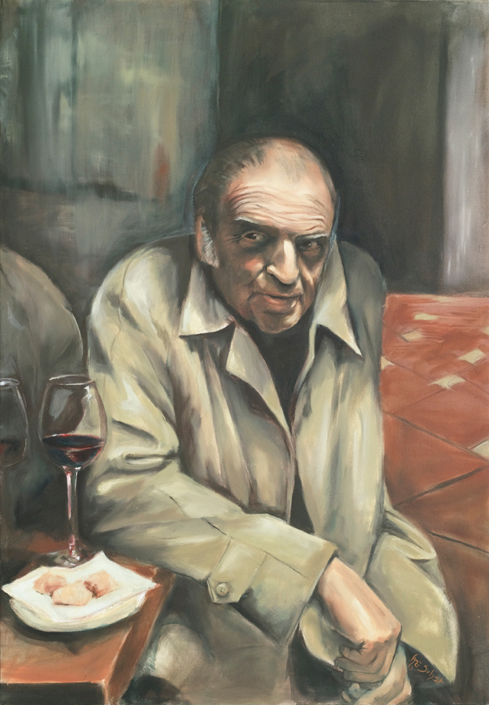 Old Man with Wine