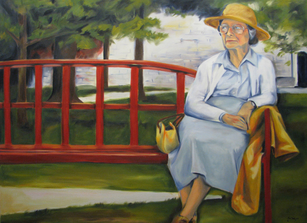 Woman on Bench - SOLD