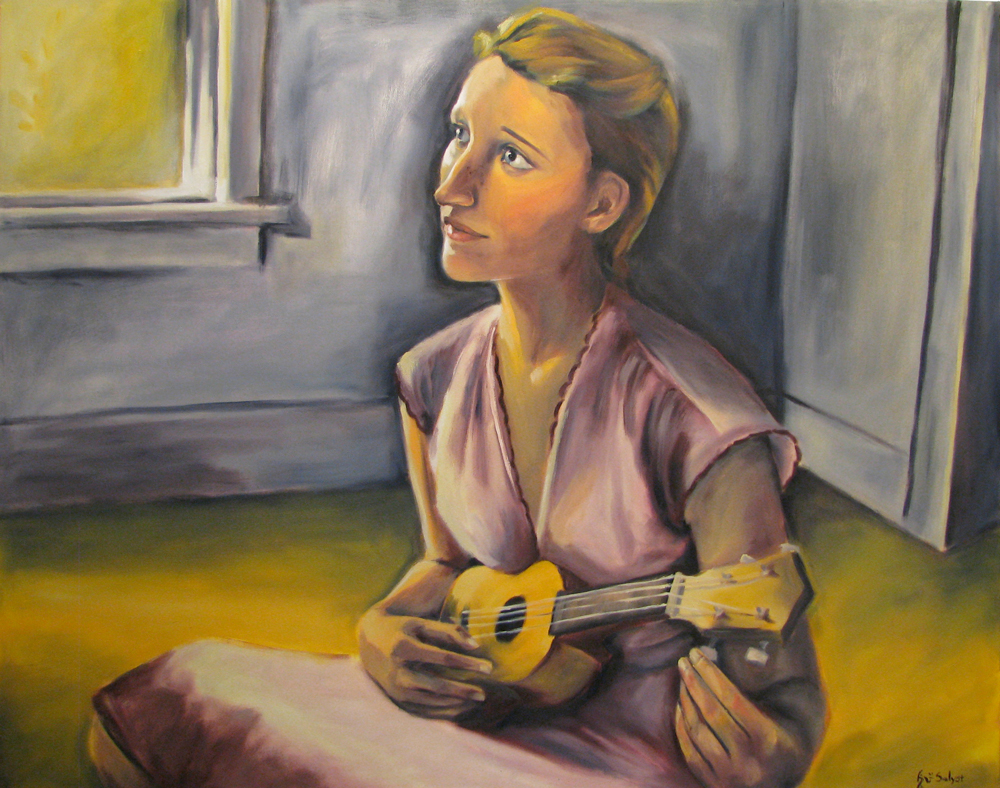 Ellen with Ukulele - SOLD