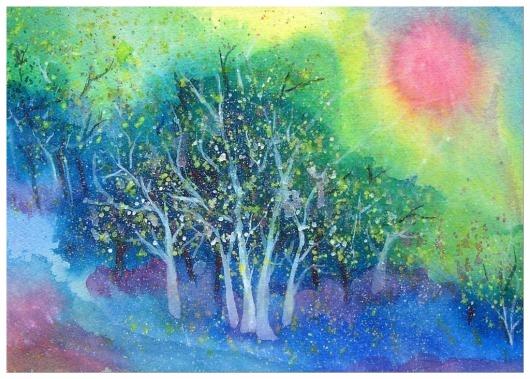 Rainbow Oasis by Elise Kennedy 2003