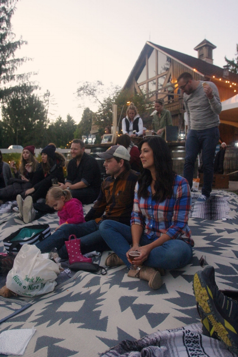Amy, her husband Dave, and her daughter at the final Campfire Session of 2016.