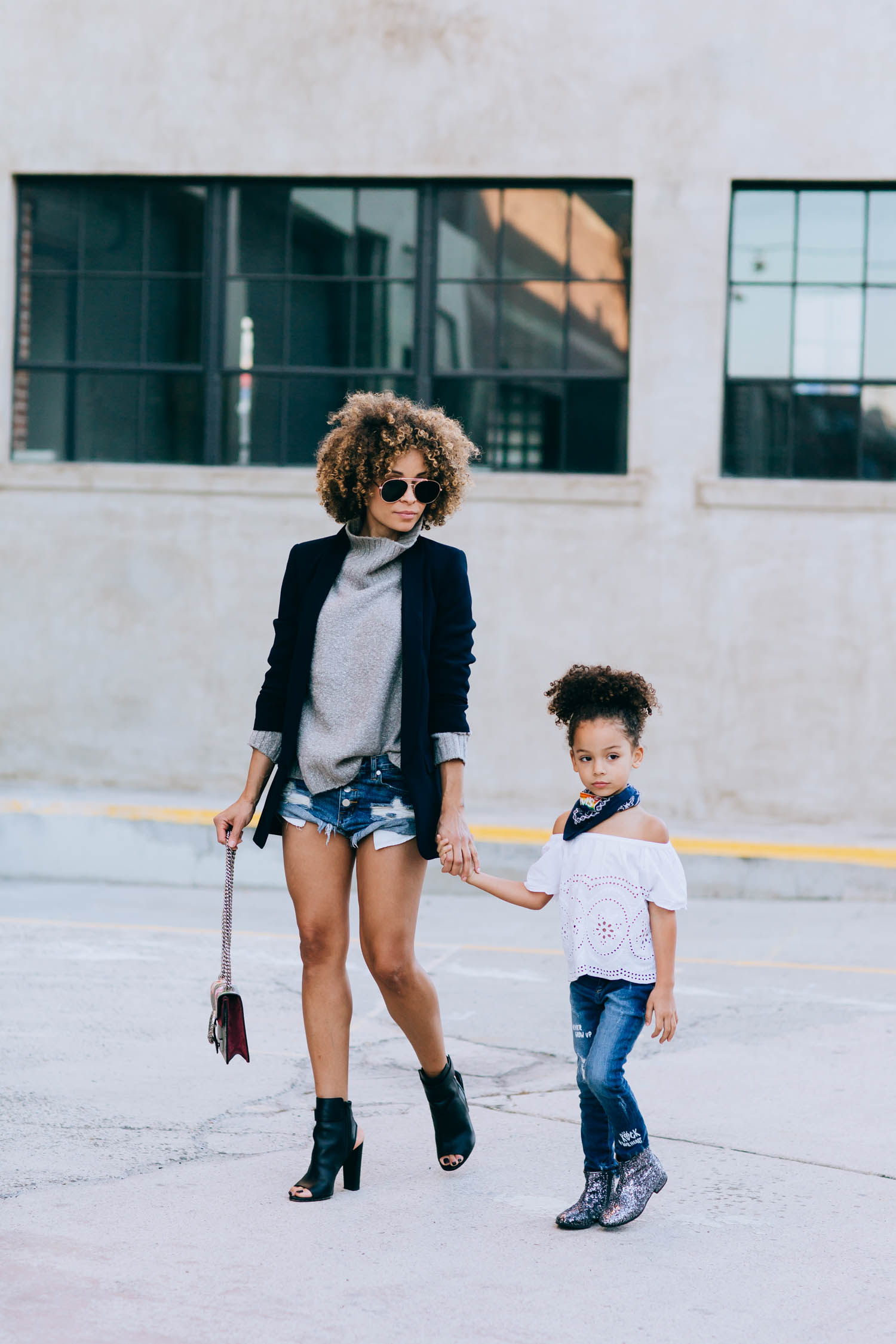 Fashion-bloggers-and-mommy-daughter-duo-from-Scout-The-City-wearing-HM-sweater-one-teaspoon-shorts-zara-denim-and-rockets-of-awesome-jacket-while-scouting-LA.1.jpg