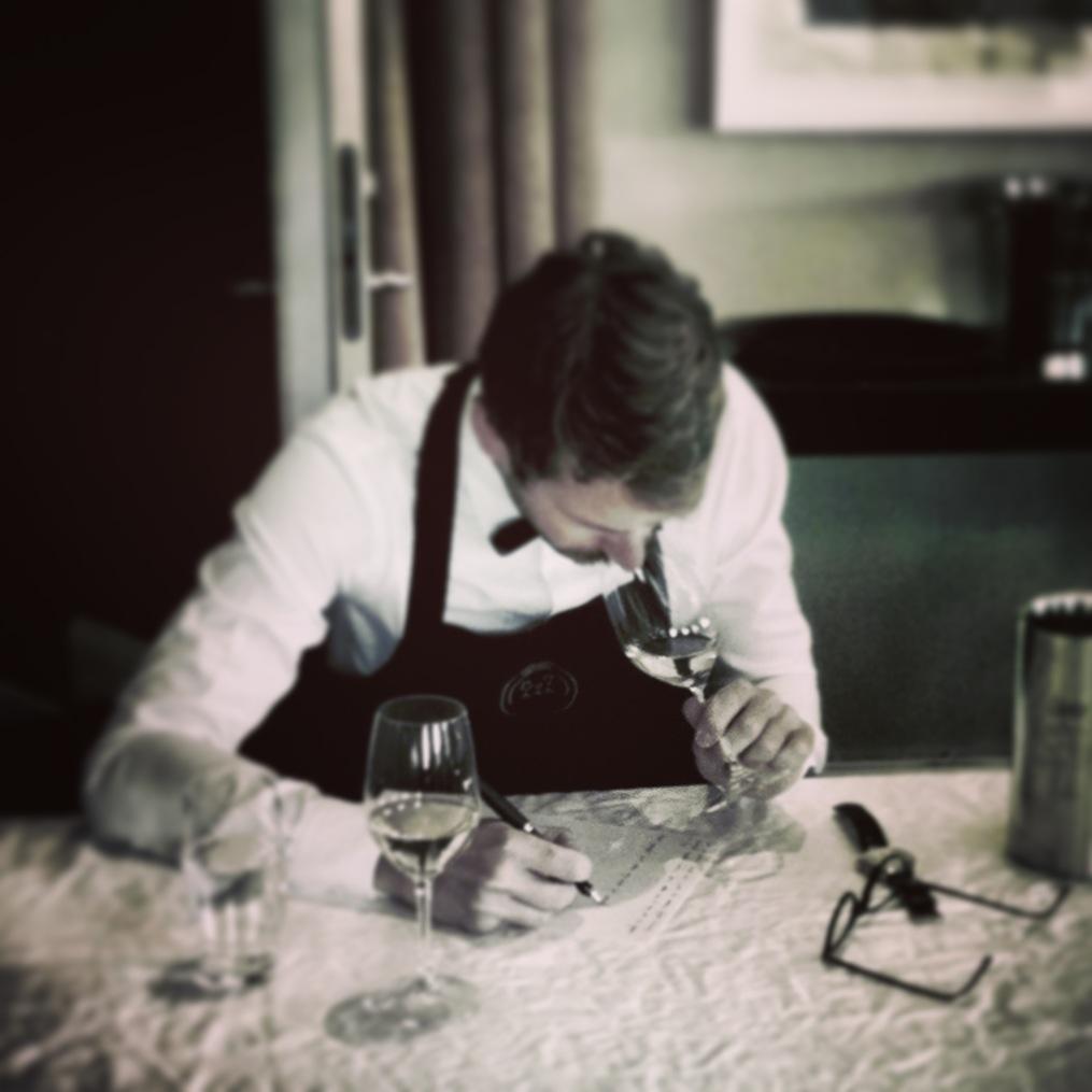Blind tasting practice - Picture by Sören Polonius