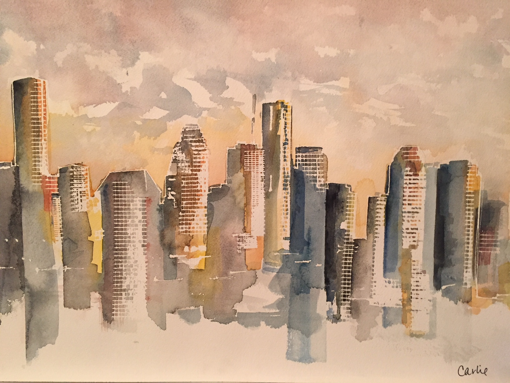 """""""A New Day"""" 16x19 Watercolor"""