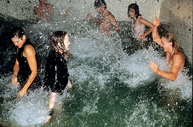 Revelers in the pool during the club's '90s heyday.Photo: Foc Kan, WireImage