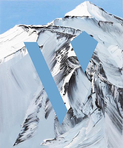 Mountain painting by Conrad Jon Godly.