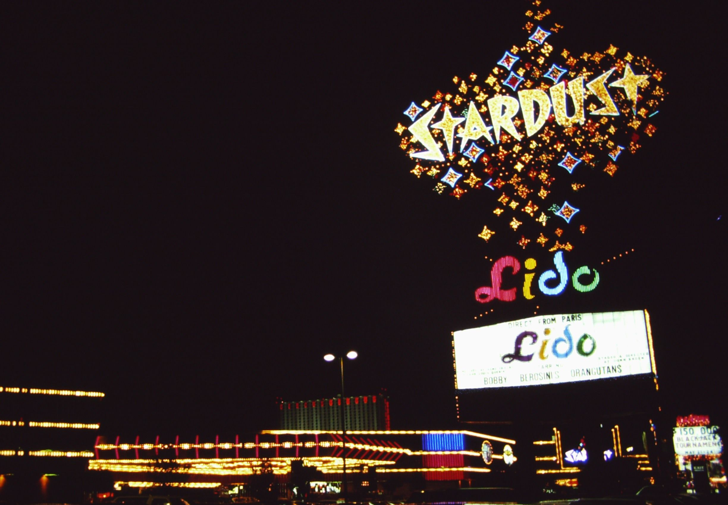 The famous Stardust sign before it went to the graveyard.