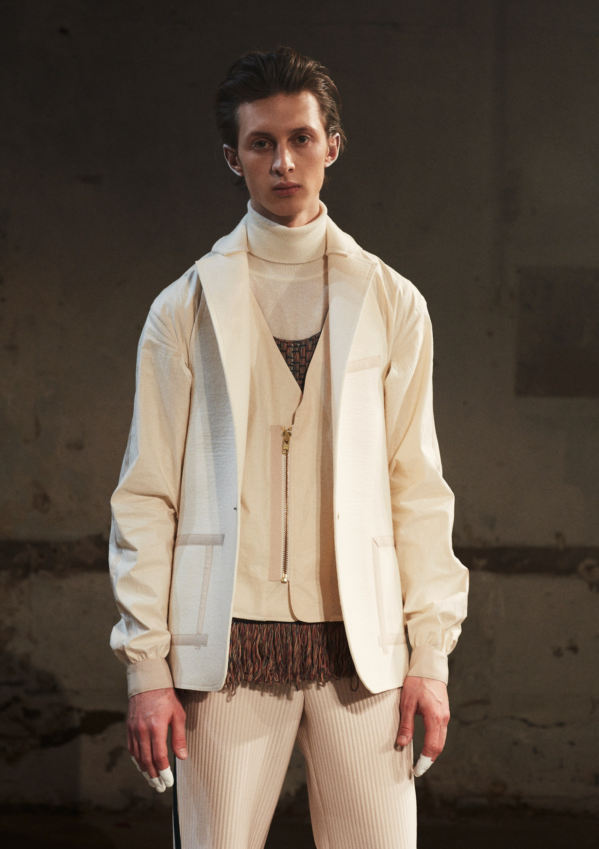 Winter whites with balancing textures.  Pigalle, Courtesy of Vogue.