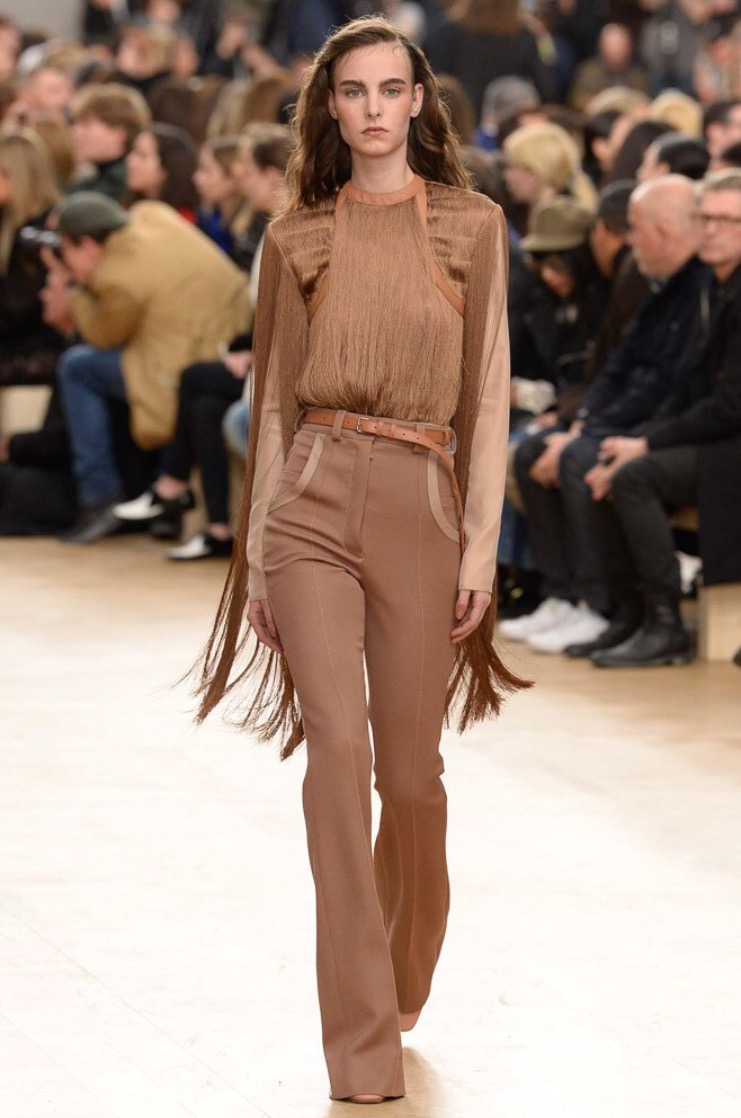 Allover brown never looked so pretty.  Nina Ricci, Courtesy of Vogue.
