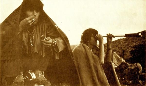 Gram Parsons and Kieth Richards at Joshua Tree in 1969.  Courtesy of Houston Press. Michael Cooper.