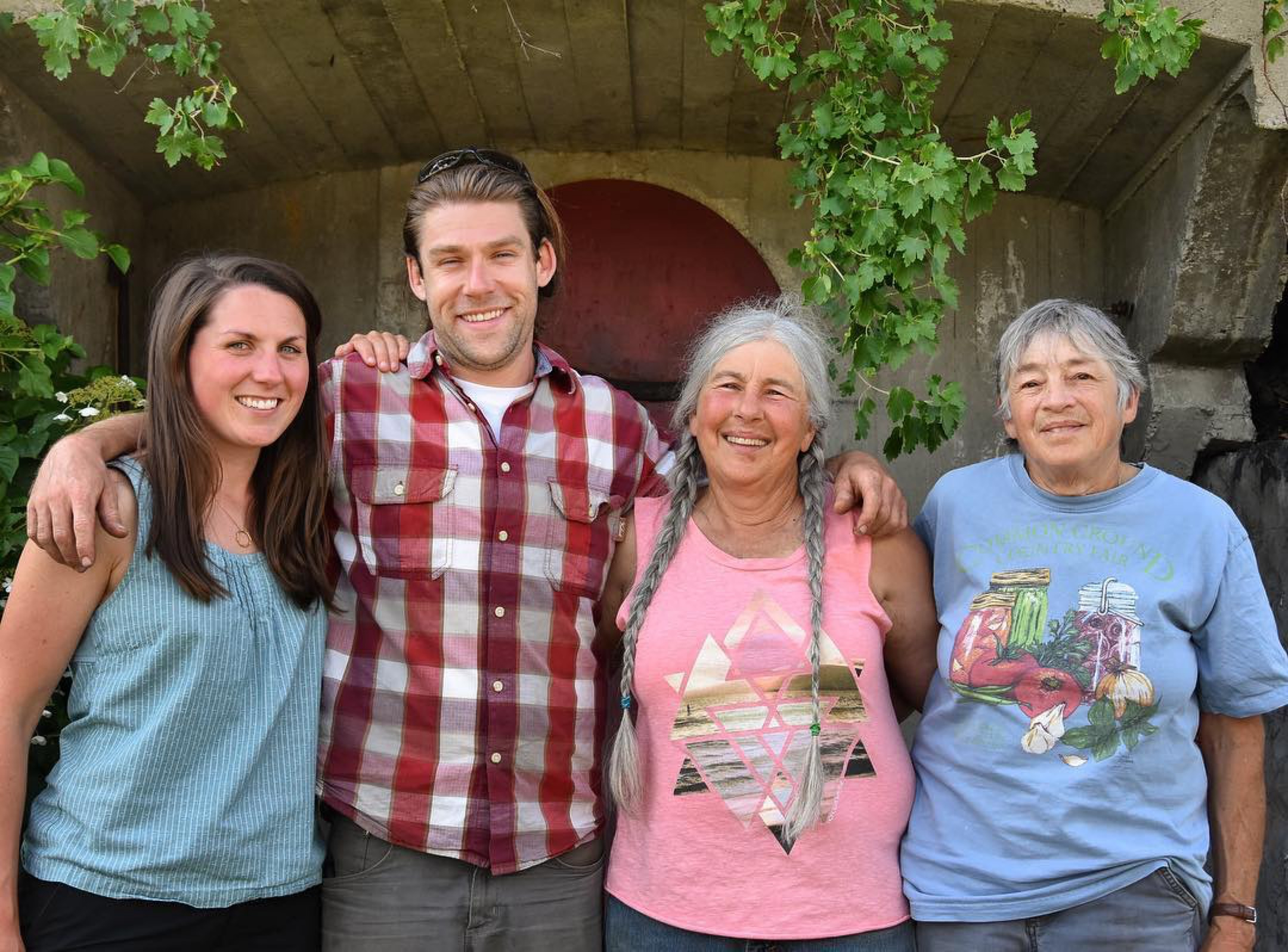 Kate Turcotte (L) with her husband Zack Munzer and Orb Weaver founders Marjorie Susman and Marian Pollack.
