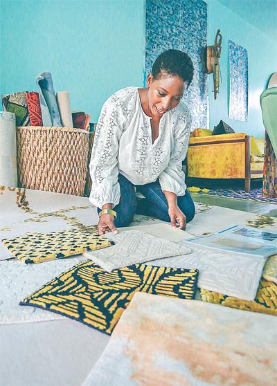 Barnett is respected for her award winning carpet designs, but is also a creater of tile flooring.