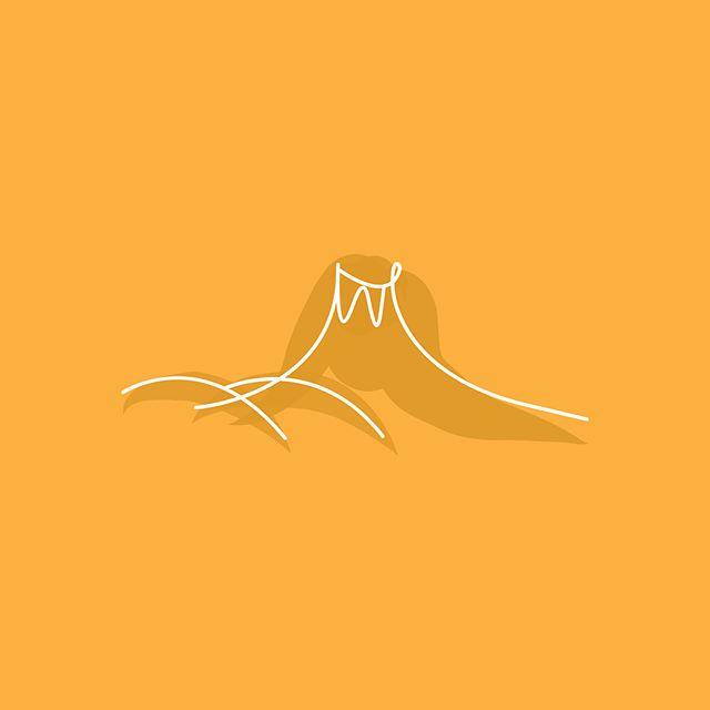 Illustration studies — grain, grown in volcanic regions 🌋 #illustration #graphicdesign #icon #studies #sketches #volcano #grain