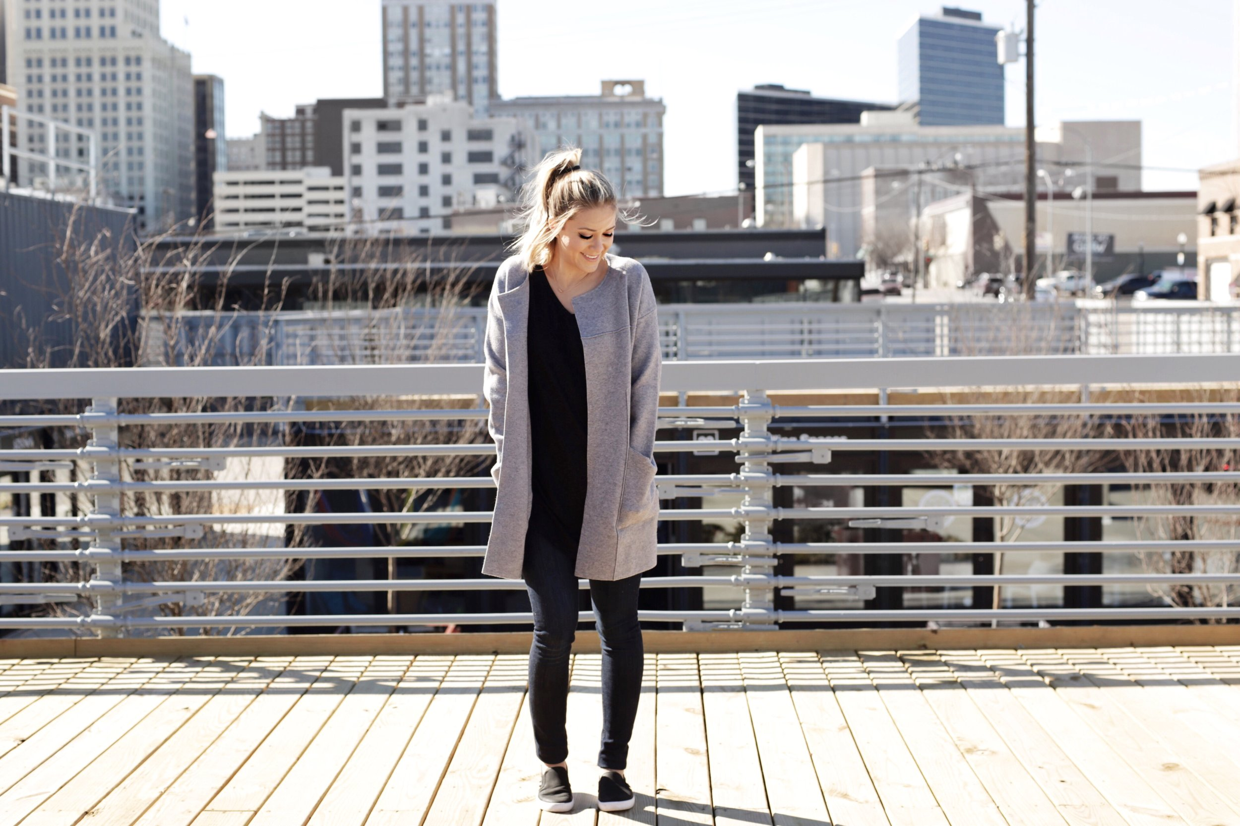 DETAILS:  Cardigan Jacket  (See more styles I love below) |  Top (or similar  here )| Shoes  |  Jeans  |  Necklace  |  Makeup
