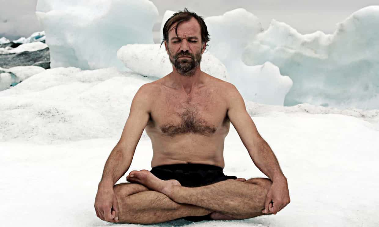 Wim Hof believes breathing and extreme cold can cure many ills. Photograph: BBC