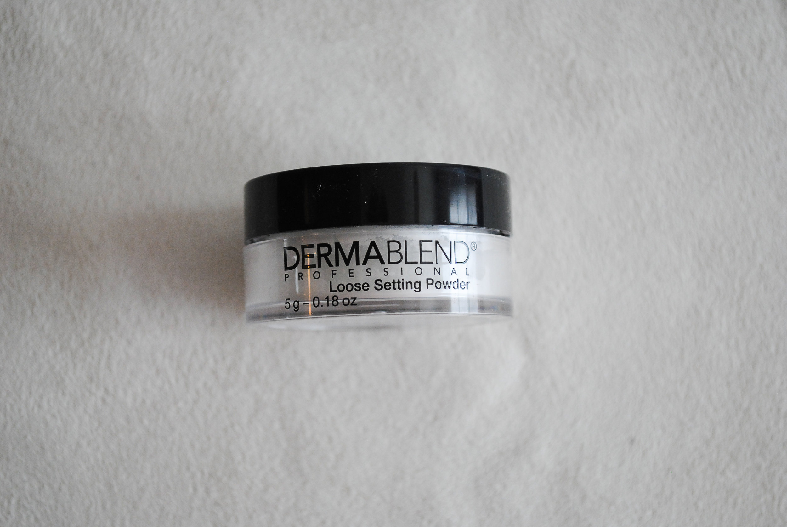 DERMABLEND Loose Setting Powder  What it claims to do: This is loose setting powder that locks down makeup and keeps it smudge and transfer resistant for up to 16 hours.  I'm all for setting powders with combination oily skin, they are a god send for me! My makeup lasts forever with this powder and leaves my makeup looking flawless!
