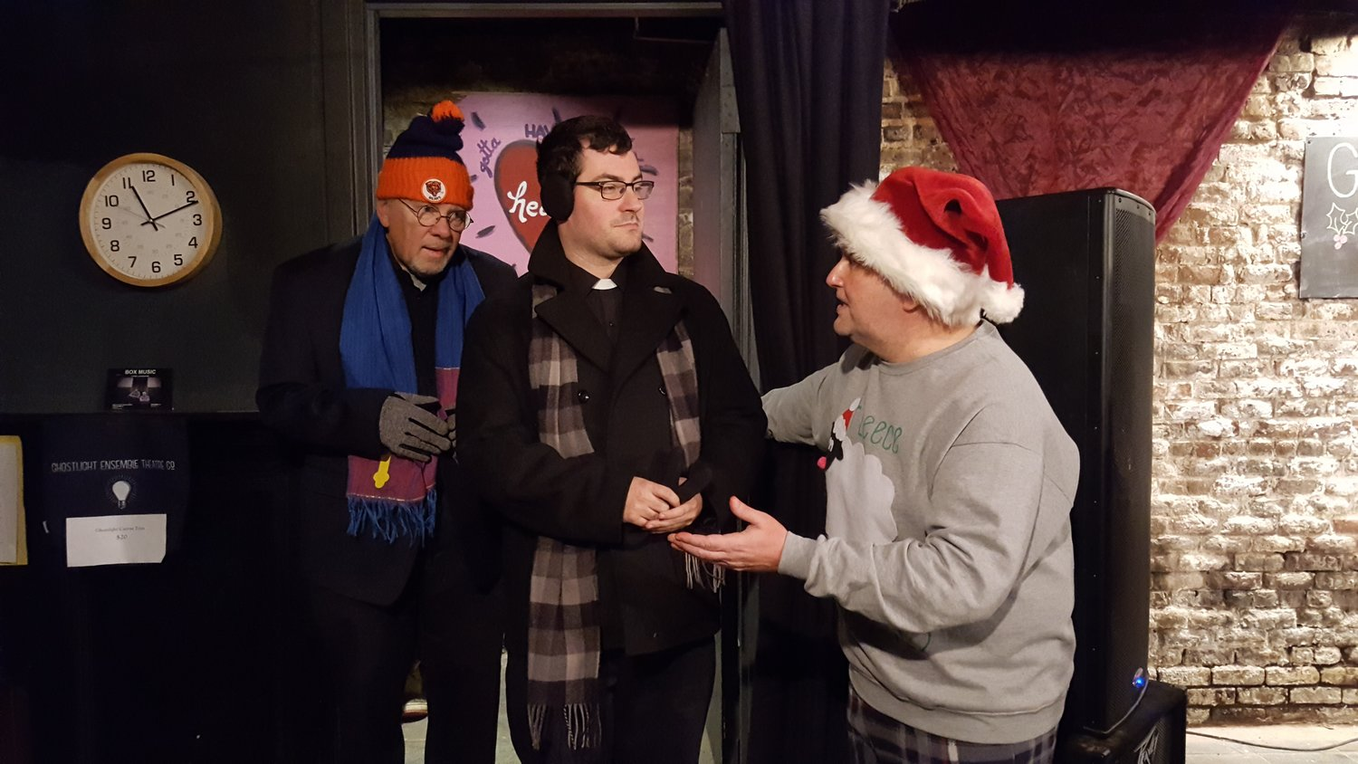 "Michael Wagman, center, in Ghostlight's 2016 production of ""Krampus!"""