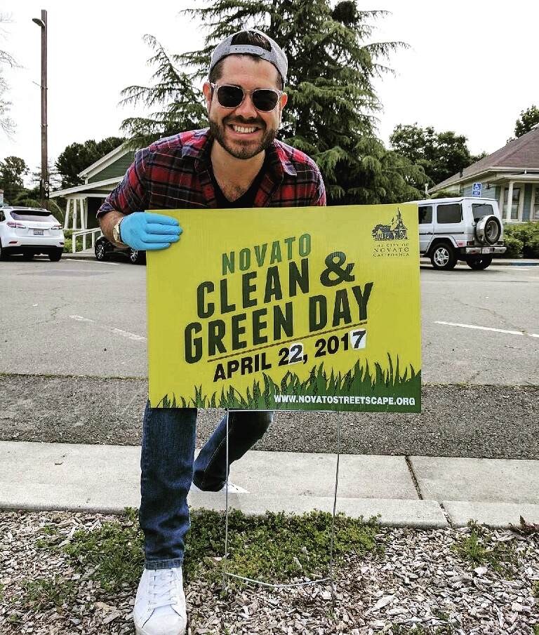 Earth Day in Down Town Novato.  We had fun planting the large concrete pots on Grant Ave!