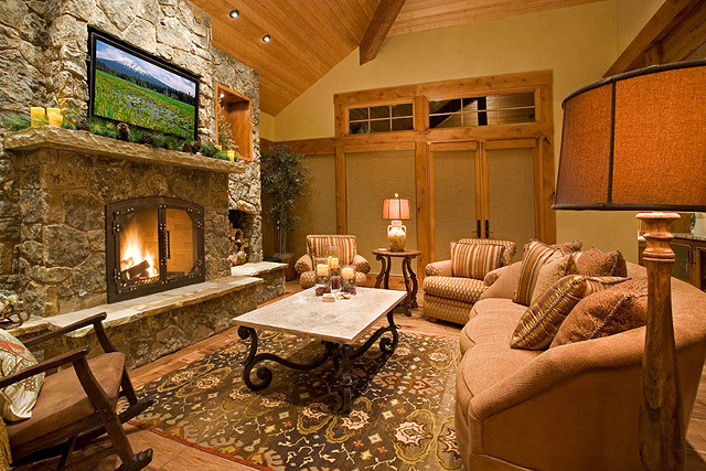 fireplace in texas