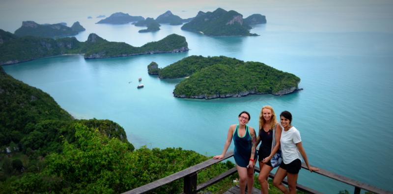 "Pha Jun Jaras Natural Trail - Viewpoint at Ko Wua Ta Lap (""Sleeping Cow Island"")"