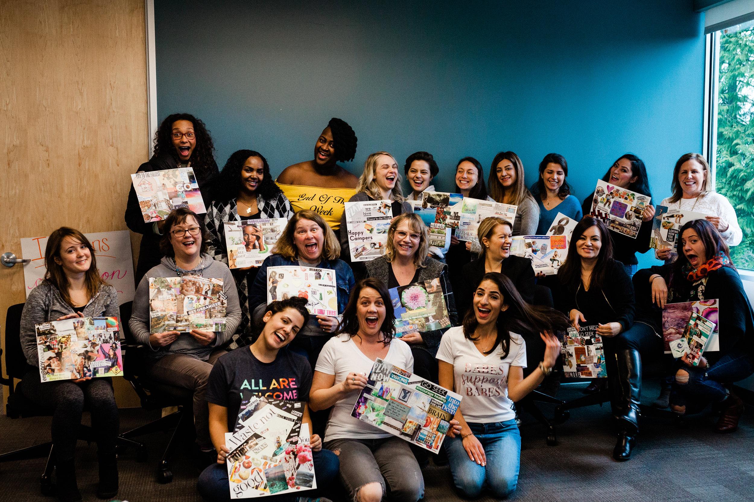 Vision Board Social 2019 - Facilitating Work - Redmond, WA