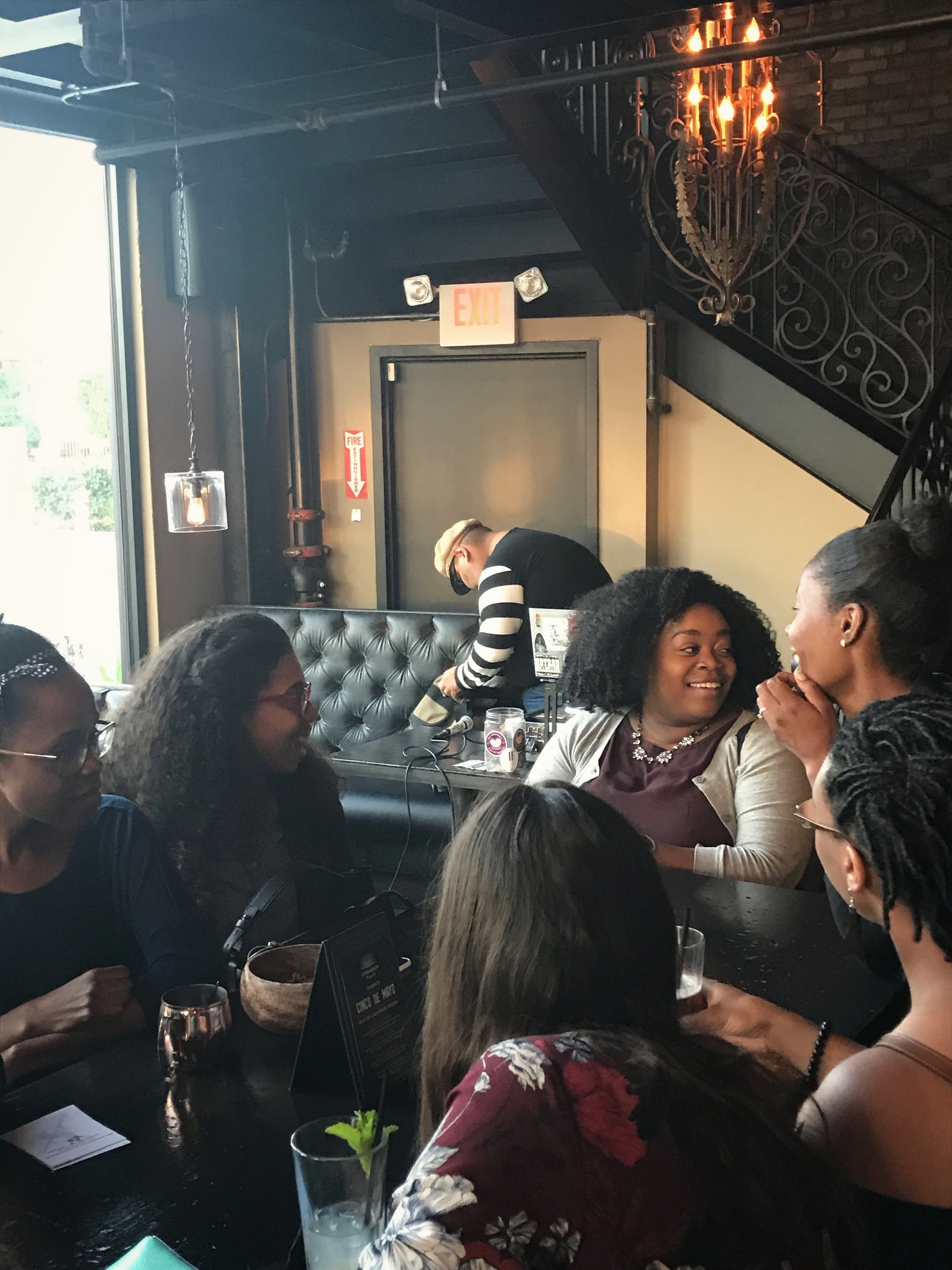 women-color-laughing-networking