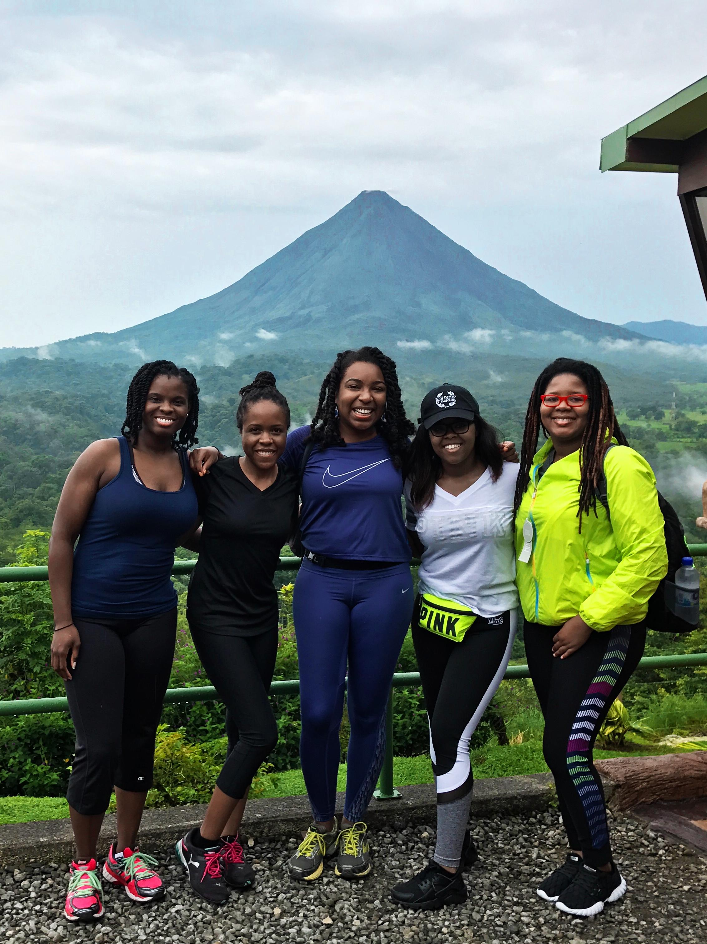 black-women-hiking-costa-rica-arenal-volcano