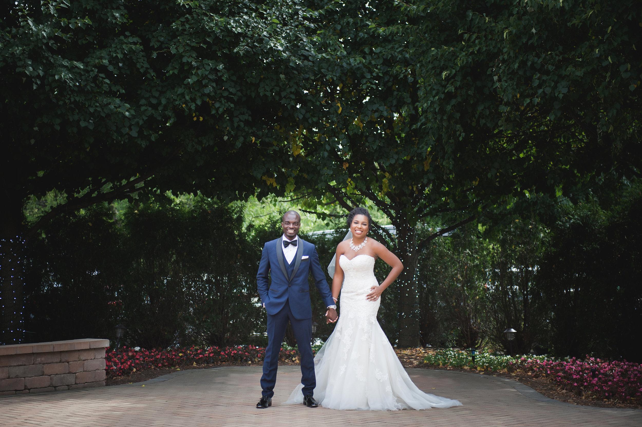 african-american-married-couple-bride-groom-wedding