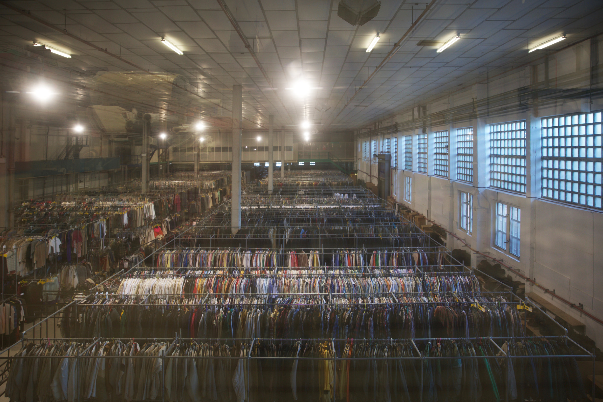 The warehouse full of costumes on the first floor at Bristol Costumer Services