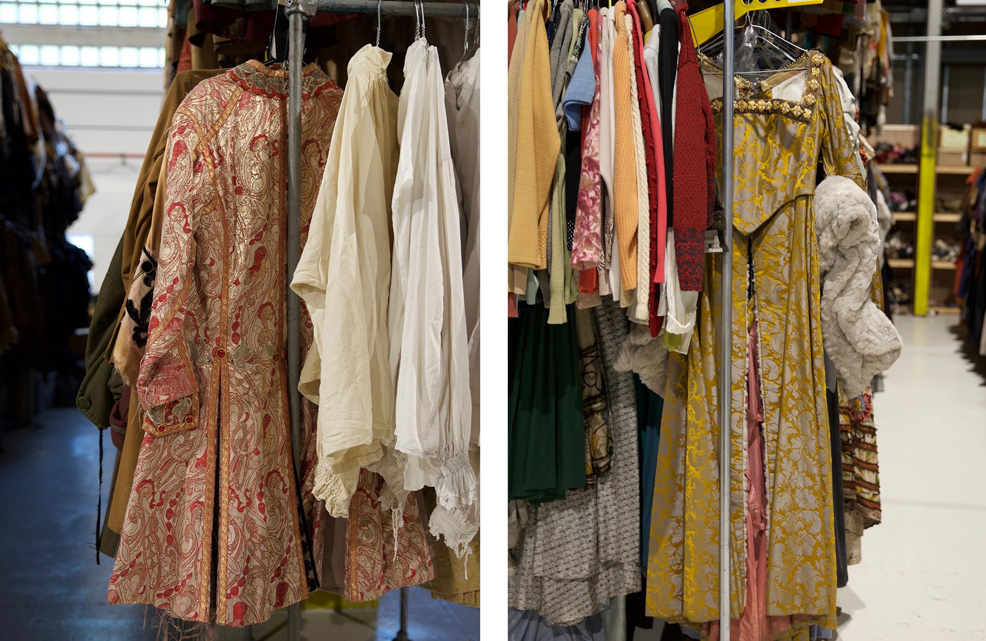 Elizabethan costumes - the racks go in chronological order