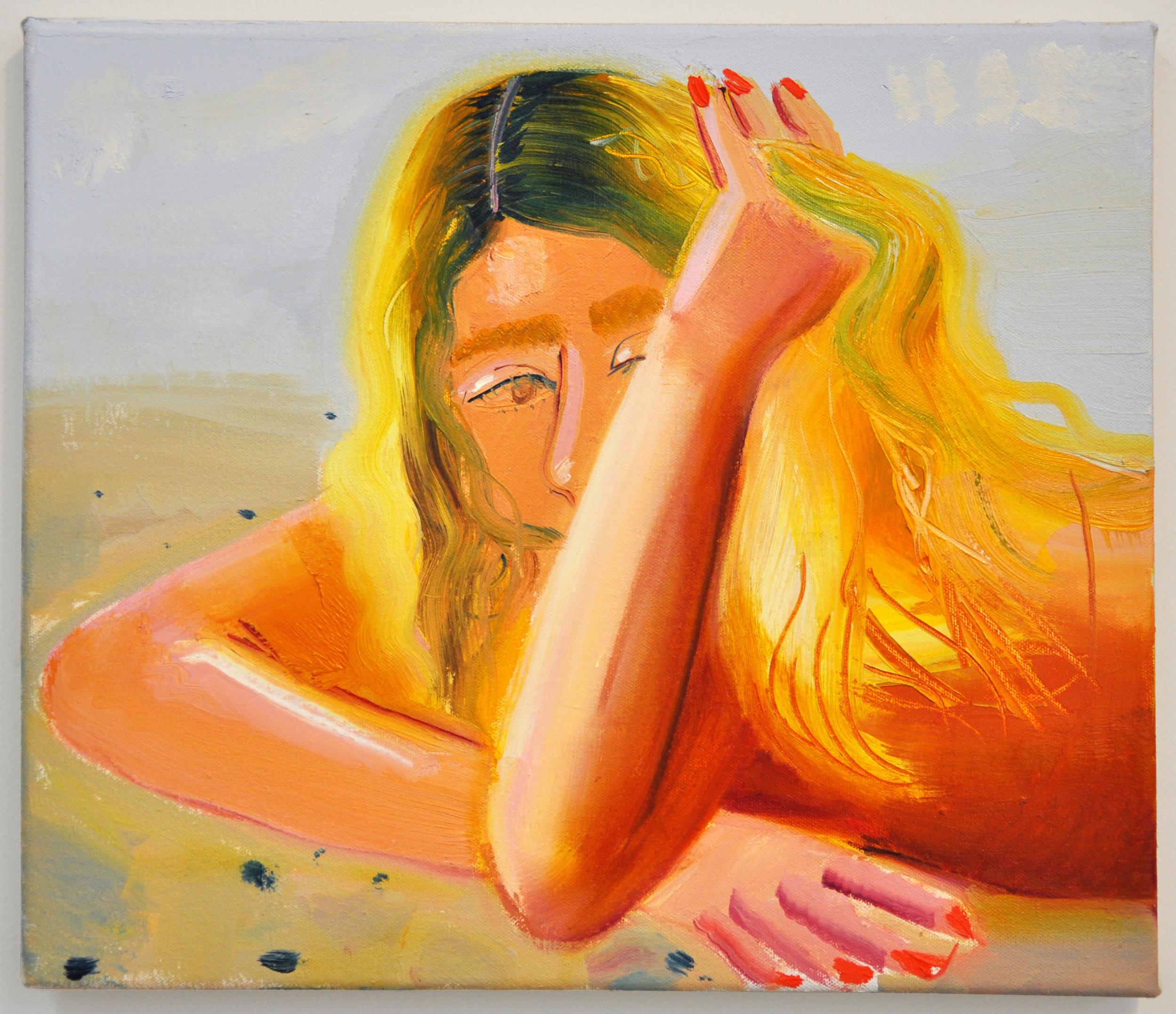 Blondie.  Oil on canvas.14 x 15 inches.Nikki Maloof.