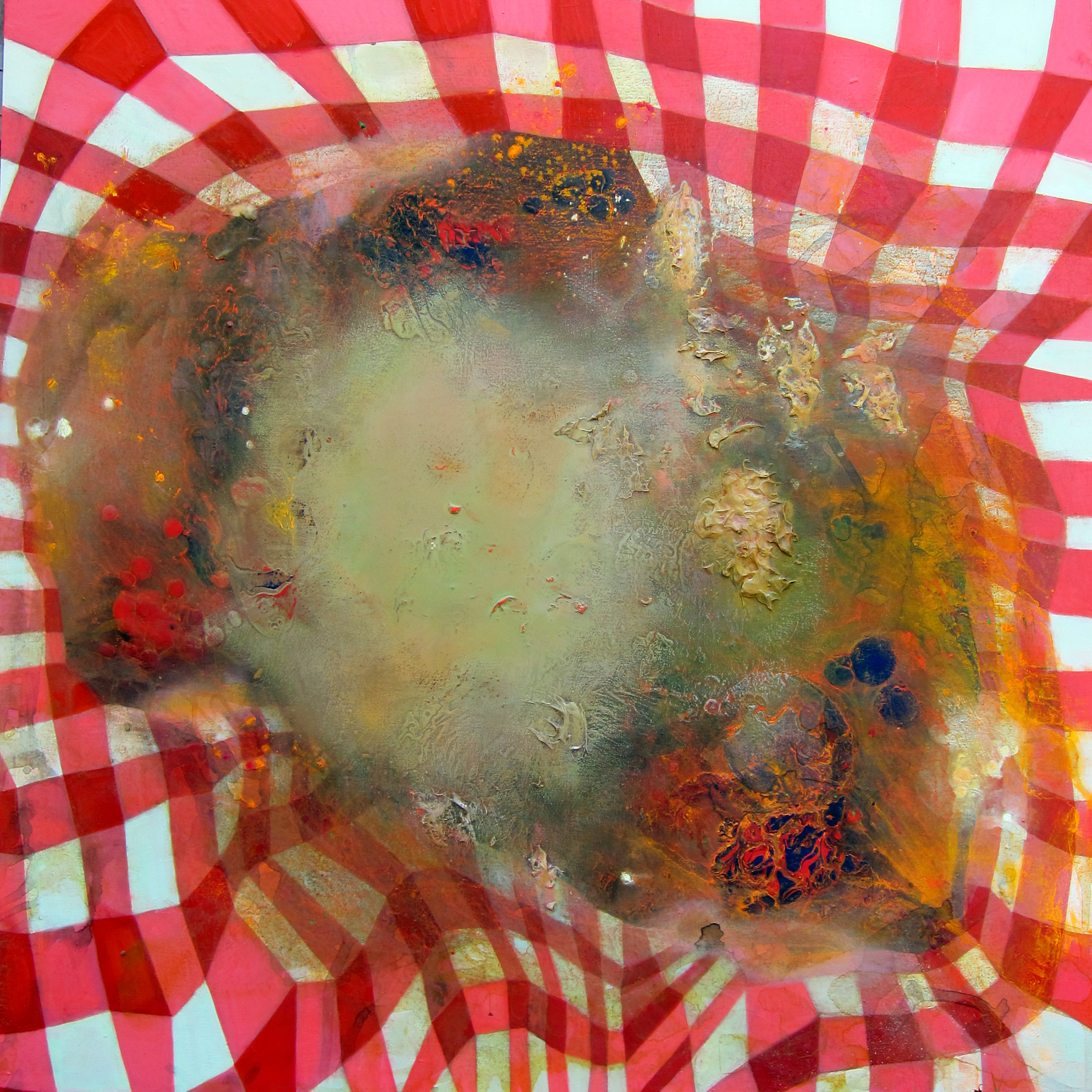Picnic , 2013, acrylic on canvas, 48 x 48 inches. Jennifer Coates.