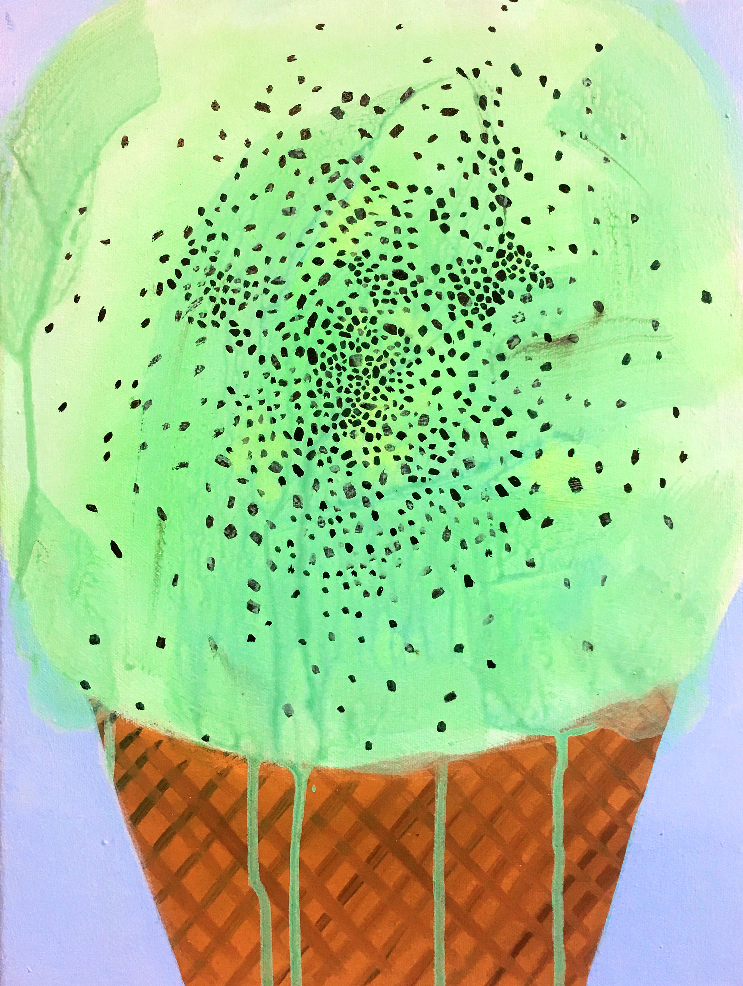 Mint chip , 2015, acrylic on canvas. Jennifer Coates.