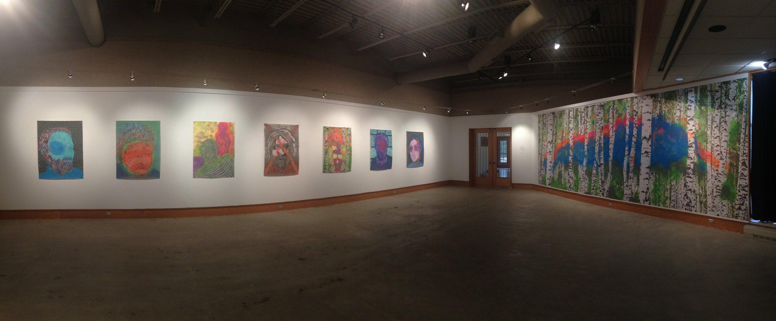 Jackie Hoving,Installation Views:Presence, Caestecker Gallery, Ripon College, WI