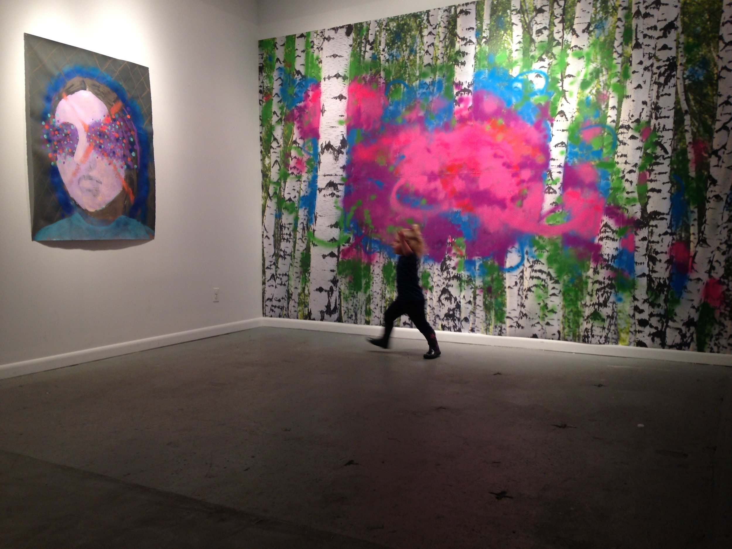 Jackie Hoving, Installation View:Sight for Sore Eyes, Studio 34 , Queens, NY
