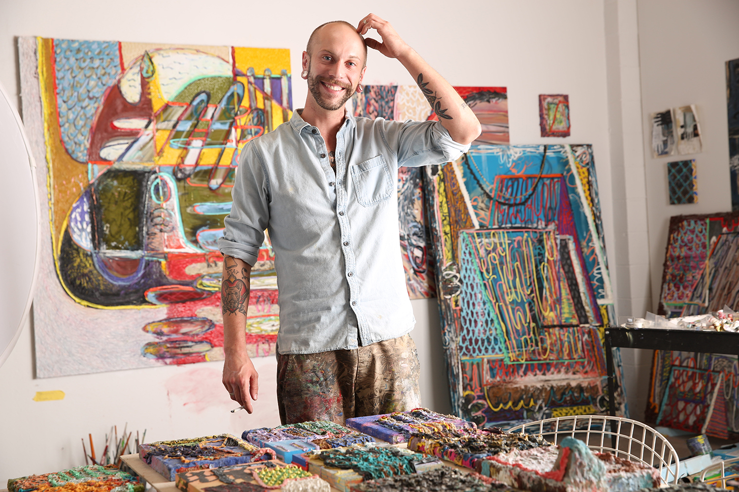 Easton Miller in his Los Angeles, CA studio.
