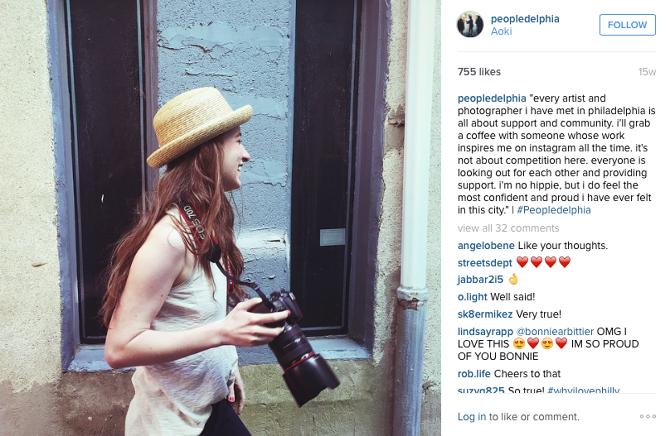 Peopledelphia's Instagram, Feature