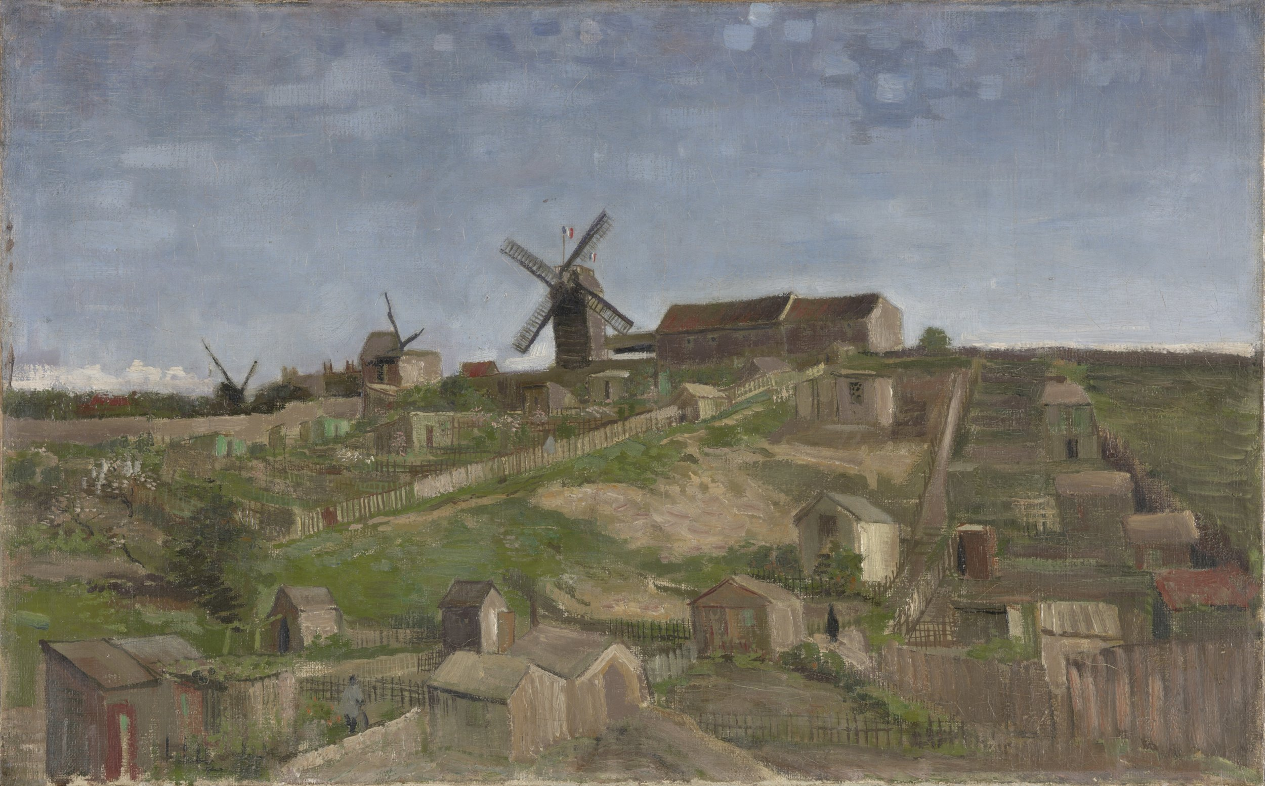 9 - KM 109.824 The hill of Montmartre, April - May 1886.jpg