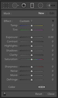 The Graduated Filter Tool