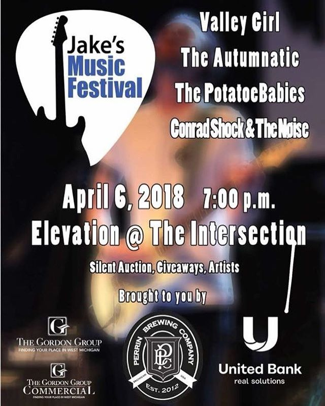 We're beyond excited to be asked back to Jake's Music Festival for the third year in a row, and to help support the cause of finding a cure for Juvenile Diabetes. Contact us for tickets, or get them at the door! #livemusic #juvenilediabetesresearchfoundation #jakesmusicfestival #grandrapids #Elevation