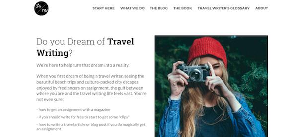 dream of travel writing