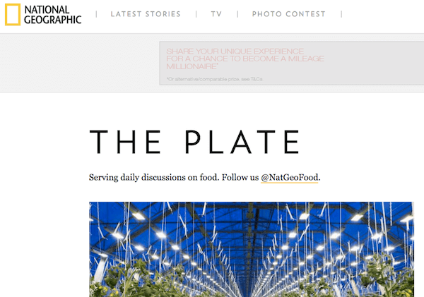 National geographic the plate